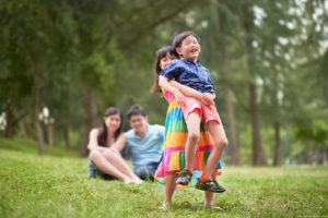 Singapore outdoor family photography.
