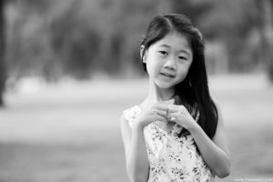 Black and White Children Photography in Singapore