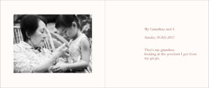 Black and white family portrait in Singapore