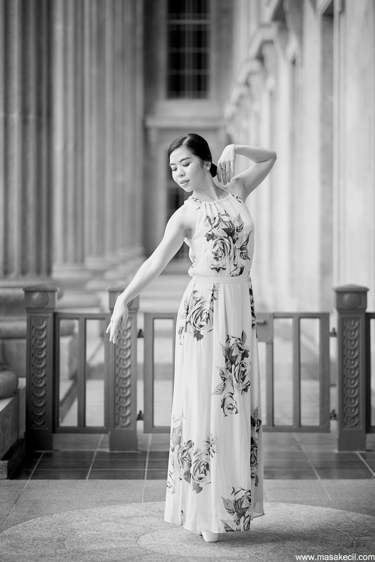 Black and white dance photography by Masakecil