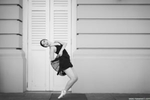 Black and white outdoor dance photography in Singapore