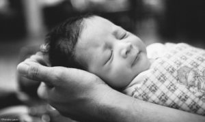 Newborn photography in black and white